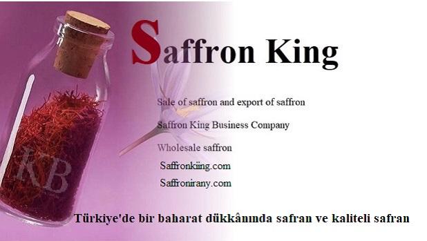 Türkiye'de bir baharat dükkânında safran ve kaliteli safran